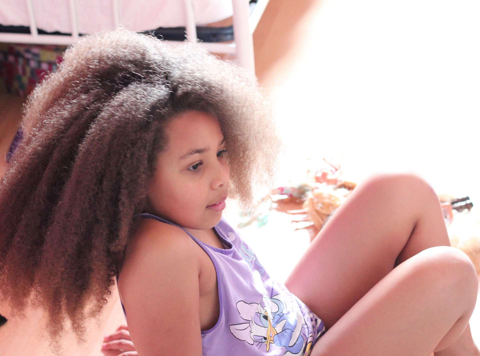 Natural haired girl