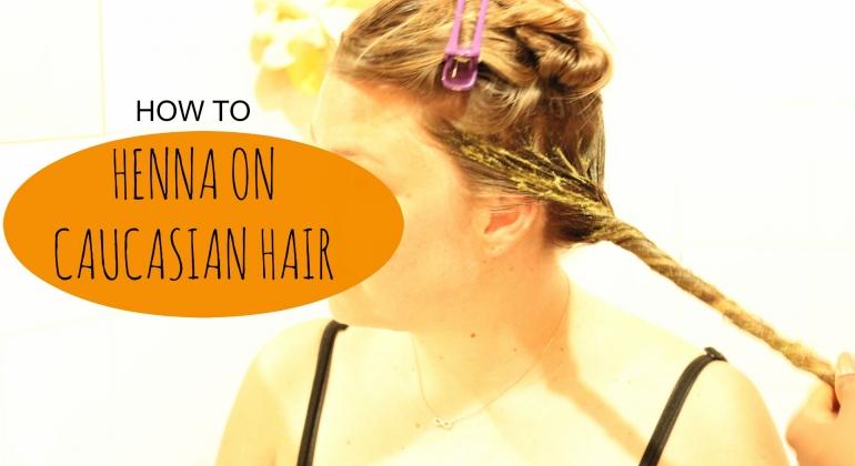 Henna on caucasian hair