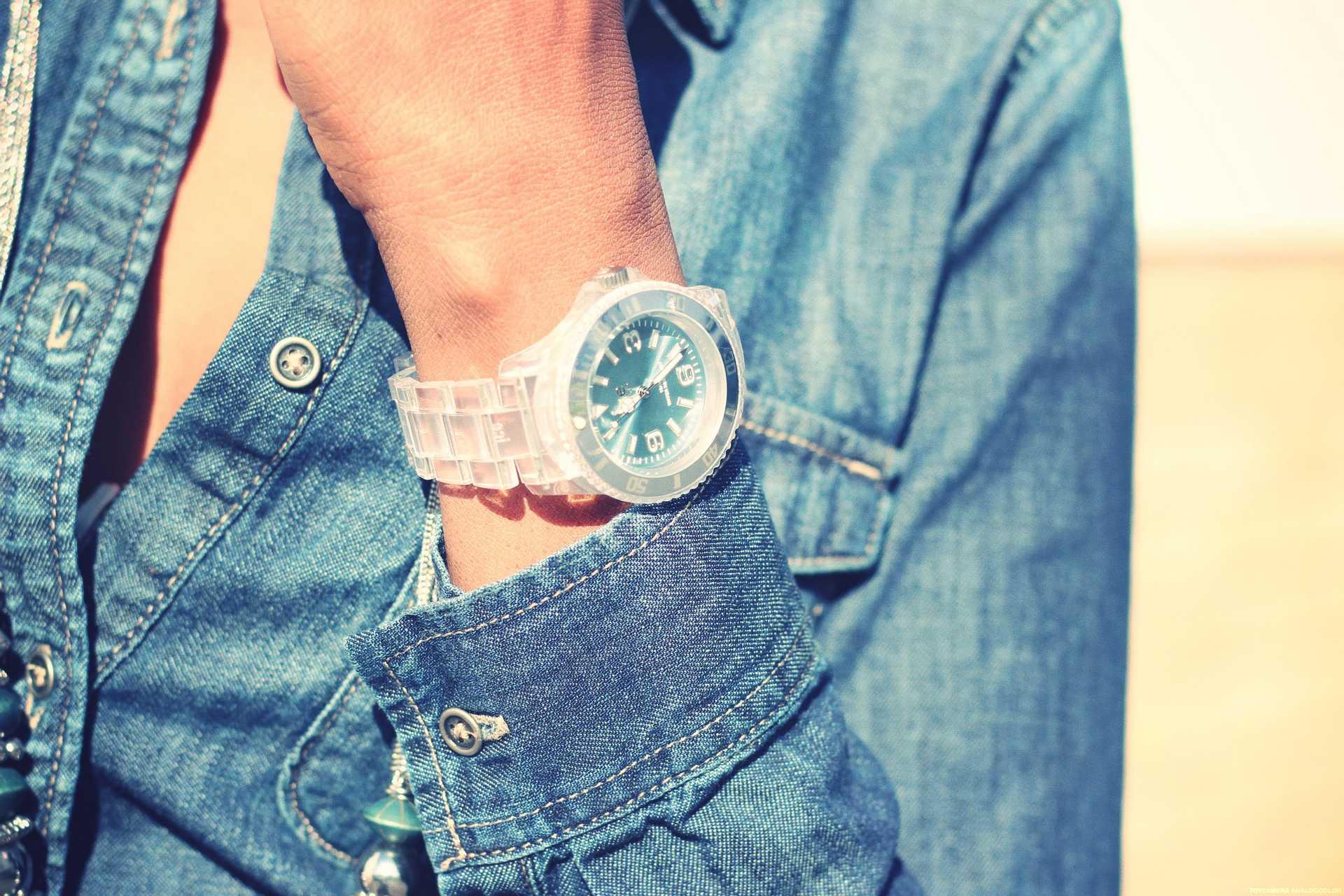 Denim shirt + Ice Watch